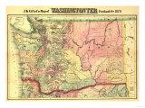 Washington - Panoramic State Map Prints by  Lantern Press