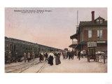 Ashland, Oregon - Southern Pacific Railroad Station Prints by  Lantern Press
