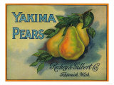 Yakima Pears Crate Label - Toppenish, WA Prints by  Lantern Press
