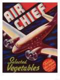 Air Chief Vegetable Label - Salinas, CA Prints by  Lantern Press