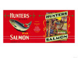 Hunters Salmon Can Label - San Francisco, CA Affiches