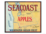 Sea Coast Apple Label - Yakima, WA Prints by  Lantern Press