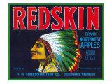Redskin Apple Label - Yakima, WA Art