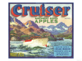 Cruiser Apple Label - Chelan, WA Art by  Lantern Press