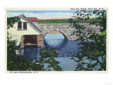 Alton Bay, New Hampshire - View of Back Bay Bridge - Alton Bay, NH Prints by  Lantern Press