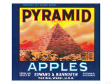 Pyramid Apple Label - Yakima, WA Prints by  Lantern Press