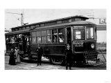 West Seattle and Luna Park Trolley Photograph - Seattle, WA Prints by  Lantern Press