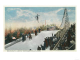A Ski Tournament Jump, Skier Making 132 ft - Duluth, MN Prints