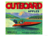 Outboard Apple Label - Chelan, WA Prints by  Lantern Press
