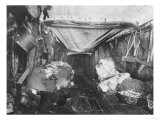 Interior of Eskimo Hut Photograph - Alaska Prints by  Lantern Press