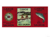 Canoe Salmon Can Label - San Francisco, CA Prints by  Lantern Press