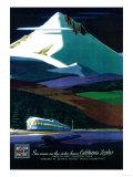 Western Pacific California Zephyr Vintage Poster - Europe Prints by  Lantern Press