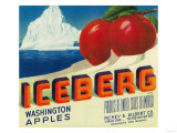 Iceberg Apple Label - Yakima, WA Prints by  Lantern Press