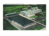 Aerial View of Goodyear-Zeppelin Fabrication Plant - Akron, OH Prints by  Lantern Press