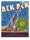 Ack Ack Lettuce Label - San Francisco, CA Prints