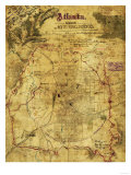 Atlanta Campaign - Civil War Panoramic Map Prints by  Lantern Press