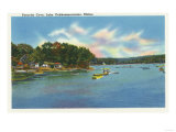 Augusta, Maine - View of Lake Cobbosseecontee in Pernette Cove Prints