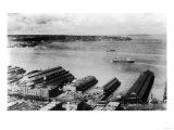 Aerial View of the Waterfront - Seattle, WA Prints by  Lantern Press