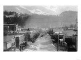 Aerial View of Main Street - Cordova, AK Prints by  Lantern Press