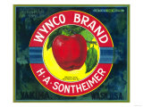 Wynco Apple Label - Yakima, WA Prints by  Lantern Press