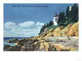 Acadia National Park, ME - Mt. Desert Island, Bass Harbor Head Lighthouse Prints by  Lantern Press