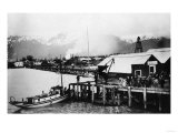 View of the City from the Waterfront - Valdez, AK Prints by  Lantern Press
