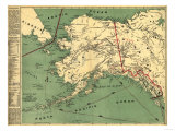Alaska - Panoramic State Map Art