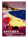 Antibes Vintage Poster - Europe Art by  Lantern Press