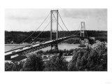 View of the Narrows Bridge - Tacoma, WA Art by  Lantern Press