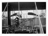 Wright Brothers Plane with Pilot and Passenger Seats Photograph - Dayton, OH Art by  Lantern Press