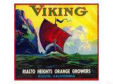 Viking Orange Label - Rialto, CA Art by  Lantern Press