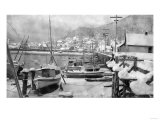 Winter Scene on the Harbor - Ketchikan, AK Art