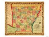 Arkansas - Panoramic Map Prints by  Lantern Press