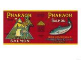 Pharaoh Salmon Can Label - Sitka, AK Prints by  Lantern Press