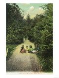 View of Natives in the Indian River Park - Sitka, AK Prints by  Lantern Press