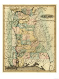 Alabama - Panoramic Map - Alabama Kunstdrucke