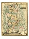 Alabama - Panoramic Map - Alabama Kunstdrucke