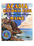Acadia National Park, ME - Large Letter Scene, View of Great Head and Maine Seal Prints