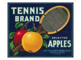 Tennis Apple Label - Seattle, WA Prints by  Lantern Press