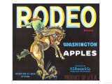 Rodeo Apple Label - Wenatchee, WA Prints