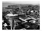 Space Needle construction and Waterfront Photograph - Seattle, WA Art
