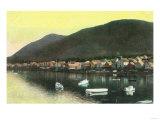 Waterfront View of Indian Town - Sitka, AK Art by  Lantern Press