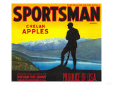 Sportsman Apple Label - Chelan, WA Prints