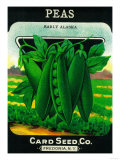 Peas Seed Packet Art