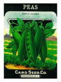 Peas Seed Packet Art