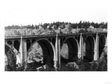 View of the Hangman Bridge - Spokane, WA Art by  Lantern Press