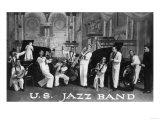A US Navy Jazz Band Art par  Lantern Press