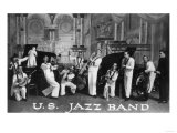 A US Navy Jazz Band Art by  Lantern Press