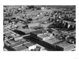 Aerial View of the City, South Western View - Glasgow, MT Art by  Lantern Press