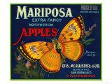 Mariposa Apple Label - San Francisco, CA Kunst von  Lantern Press